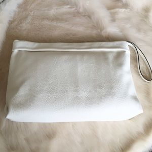 Zara Clutches & Wallets - New Zara White Faux Leather Clutch