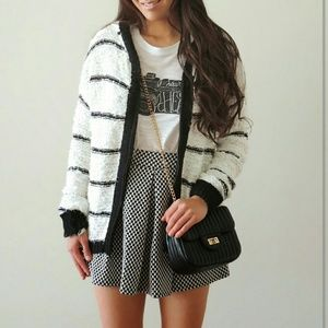 Dresses & Skirts - Checkered skater skirt with pleats