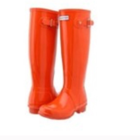 98% off Hunter Boots Boots - HUNTER Orange Rain Boots hold for ...