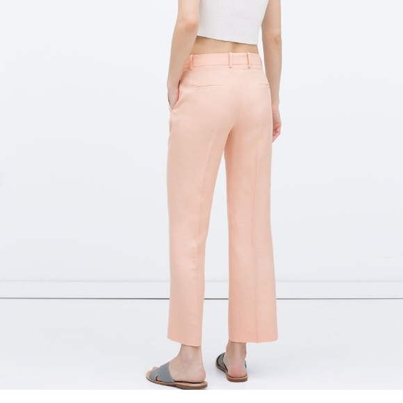 49% off Zara Pants - Zara peach Viscose/Linen trousers from ...