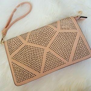 Handbags - Studded pink bag