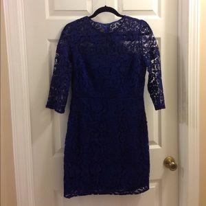 J. Crew floral lace shift dress