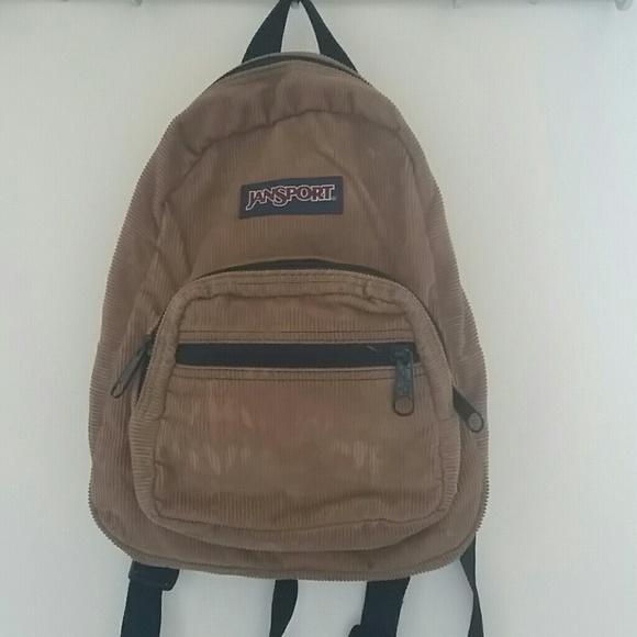25% off Jansport Handbags - Jansport Mini Corduroy Backpack from ...