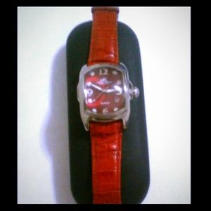 Adee Kaye Accessories - Adee Kaye Berverly Hills Red Strap Lupah Watch