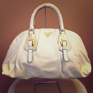 93% off Prada Handbags - Prada ivory leather handbag from Vicki\u0026#39;s ...