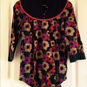 Numph Tops - European floral print tunic