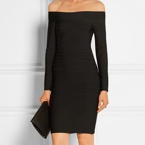 Herve Leger Dresses & Skirts - Hervé Léger Candice Off-the-shoulder bandage mini
