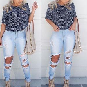 Size 9 Cutout Jeans