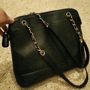 CHANEL Handbags - Black Caviar Chanel Bag with Gold Hardware