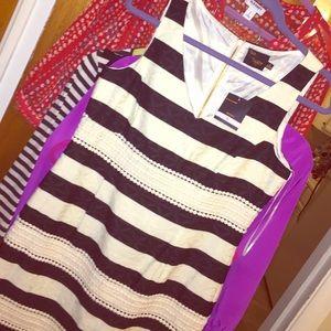 Just Taylor Black/White Scalloped Dress! SZ: 6
