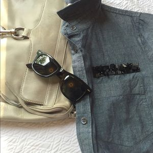 J crew embellished chambray