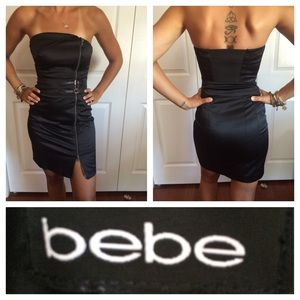 Bebe strapless black dress