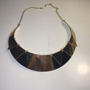 Asos plates necklace gold