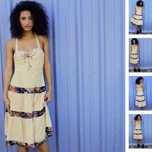 Summer Tan & Floral Dress