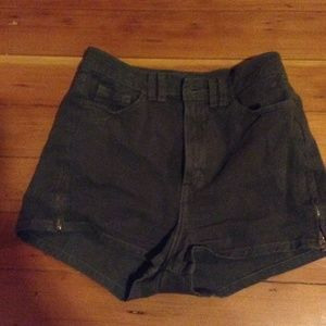 american apparel highwaisted shorts