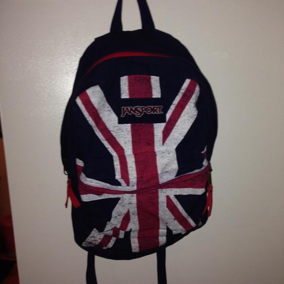 jansport Accessories   Union Jackbritish Flag Backpack   Poshmark c75468bb7c
