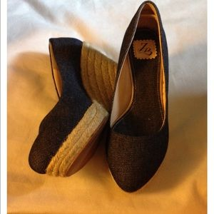 Shoes - Denim Wedges