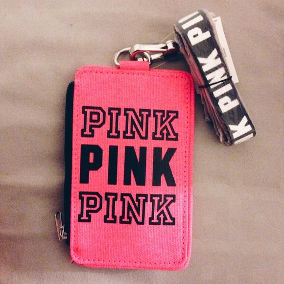 san francisco 79a8a 32b4b New Victoria's Secret PINK Wallet ID Case Holder NWT