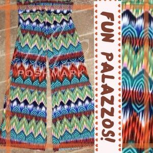 tla2 Pants - COLORFUL PALAZZOS!