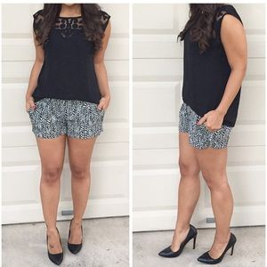 Express Dresses & Skirts - Express Black & White Tribal Print Shorts