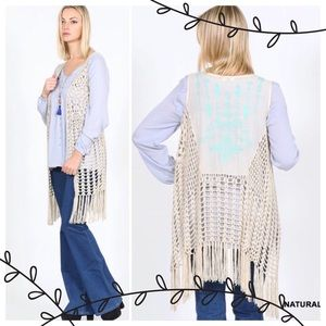 tla2 Other - 💥HP 9.2💥BEAUTIFUL BOHO VEST IN 3 COLORS!