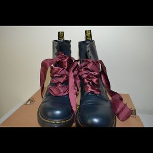 Dr martens navy boots