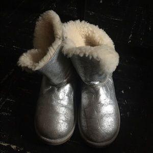 Kids UGG Silver Metallic Boots size 4