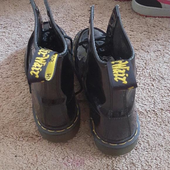 54 dr martens shoes black patent leather dr