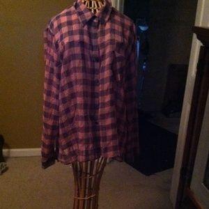 Tops - Sheer flannel