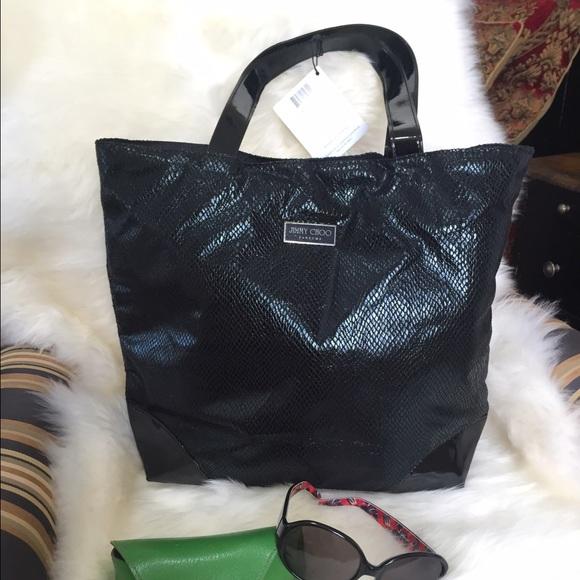 44a44783d0 Jimmy Choo Handbags - NWT Jimmy Choo Black Tote. GWP Perfume. Great Tote