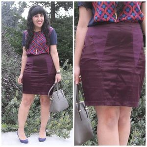 silence + noise Dresses & Skirts - Silence + Noise Purple Pencil Skirt