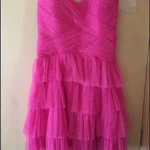 Fuchsia pink Cocktail/Evening dress.