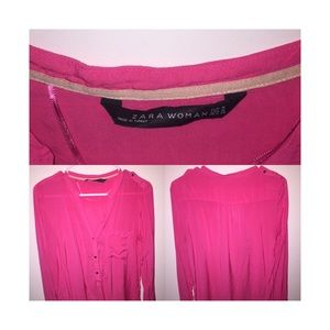Basic neon pink Zara top.