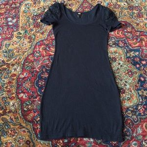 H&M black spandex mini dress