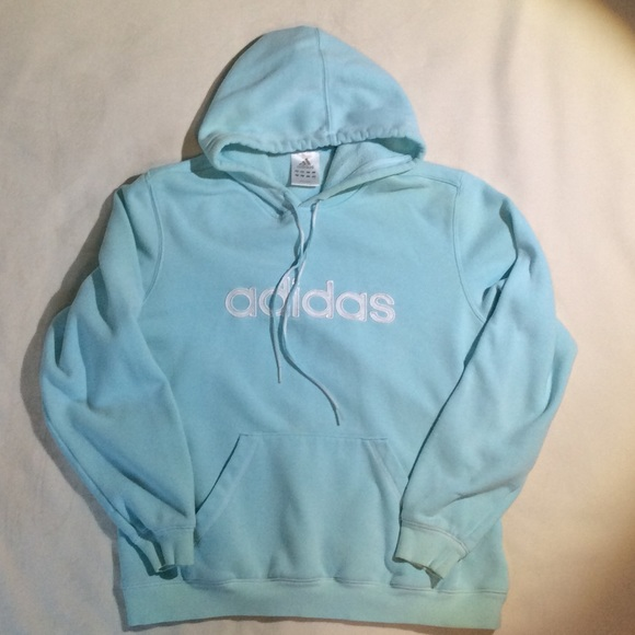 42a9d6252218 Adidas Tops - Light aqua blue Adidas sweatshirt.