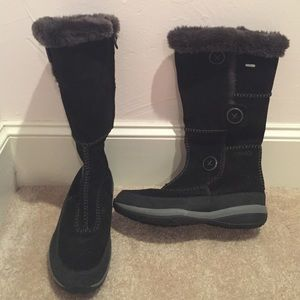 black suede snow boots on Poshmark