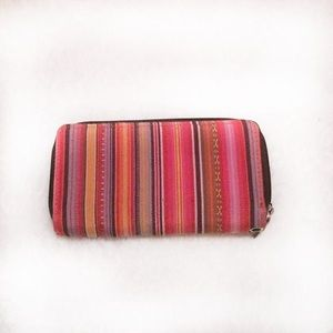 Tribal Colored Double Zipper Wallet