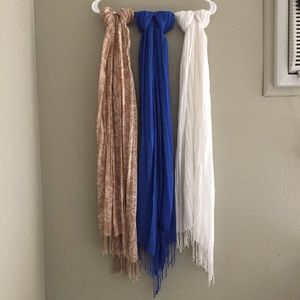 Xhilaration Accessories - THREE Target scarves with fringe