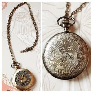 reversible pocketwatch necklace