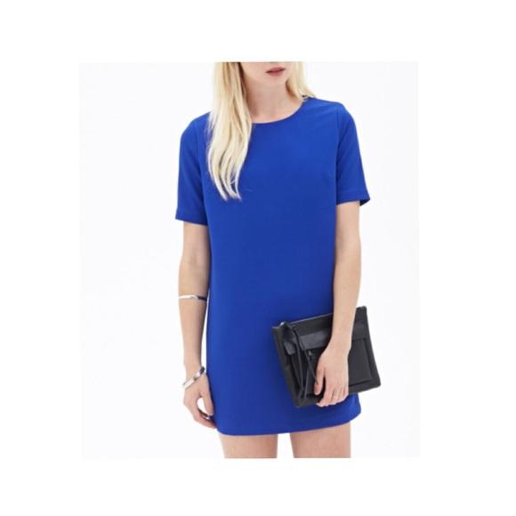 9d577ffe52 Cobalt blue t shirt dress