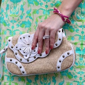 Limited Edition Handbags - Raffia clutch with wrist strap
