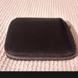 Cole Haan square black wallet