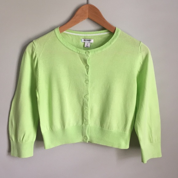 65% off Old Navy Sweaters - Cropped Cardigan in Lime Green from ...
