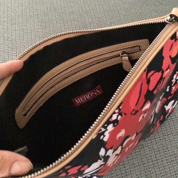 Merona Bags - Floral zip clutch