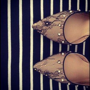 Zara studded lace heels