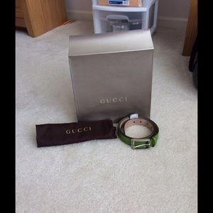 Gucci Guccissima Belt. Apple Green. NWT!! Sz 90.36