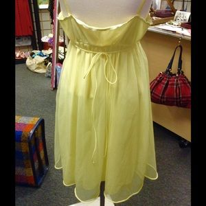 Vintage Intimates   Sleepwear - Vintage Warner s Slip Yellow Nightgown  Sheer Lace f08ed9ec1
