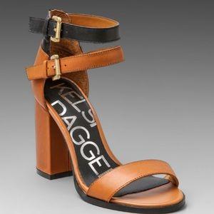 Color blocked heels