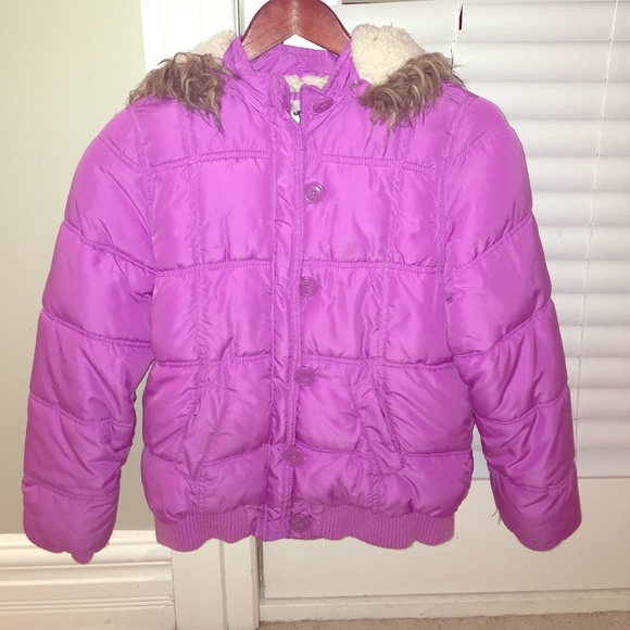 75% off Justice Other - Girls Justice winter coat purple size 14 ...