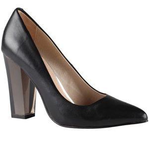 Black lucite heels